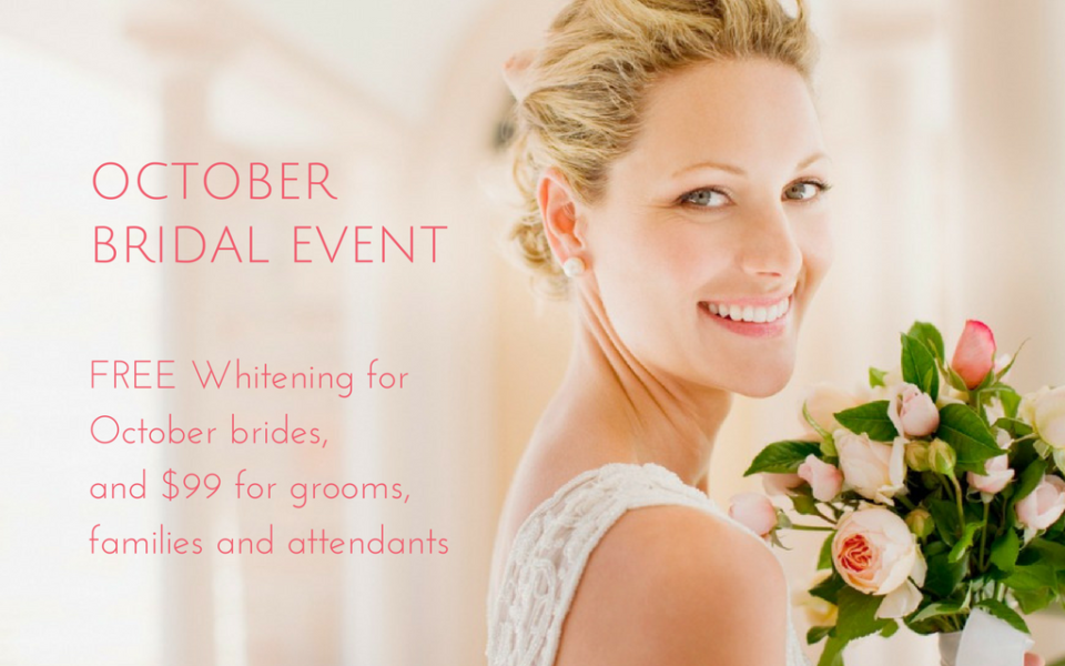 Free Whitening for October Brides